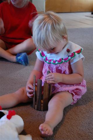 exploring a instrument in Family time