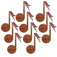 Kindermusik Note Ornament, set of 10